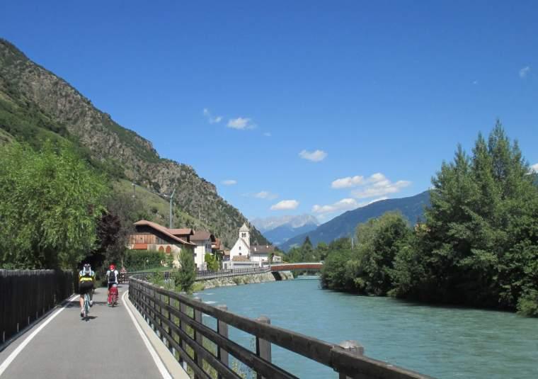 Bike path along river