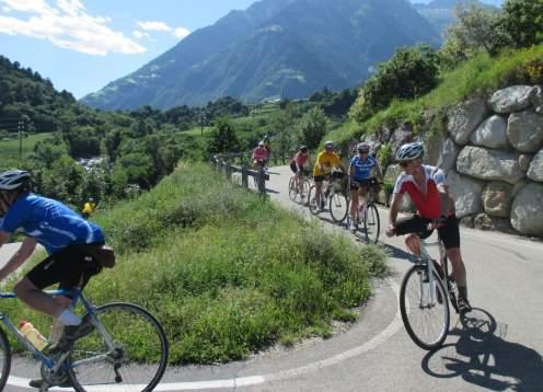 Biking downhill