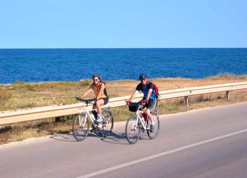 Biking by sea, closer
