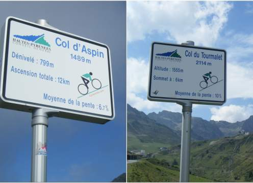 Cols daspin  tourmalet signs